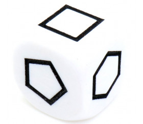 Grand dé à jouer formes géométriques noir