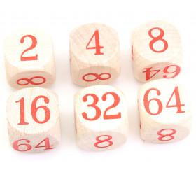 Dé doubleur backgammon 2 à 64 videaux bois