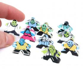 10 meeples zombies - Pions personnages plexiglas