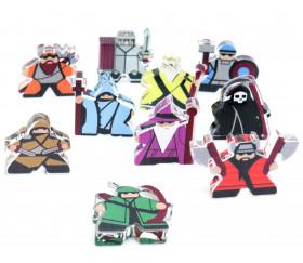 10 meeples héros fantastiques - Fantasy Squad pions plexiglas
