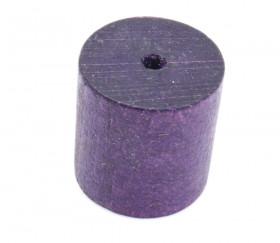 cylindre en bois 2.3 cm de diamètre 2.5 cm de long violet