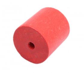 Cylindre 23 x 25 mm rouge en bois pour jeu à l'unité