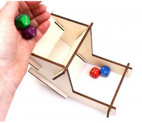 Mini tour lanceur de dés 11.8 cm en bois