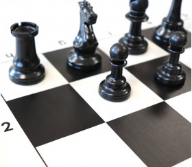 32 Pièces d'échecs jeu en plastique 97 mm taille 5