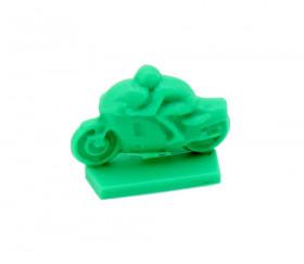 Pion moto plastique verte 24 x 12 x 18 mm à l'unité