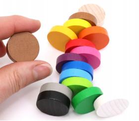 Jeton 25x7 mm en bois rond 25 mm pour jeu de société