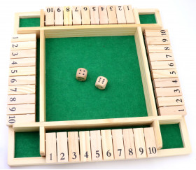 Fermez la boite 4 joueurs 29 x 29 x 4,4 cm - shut the box