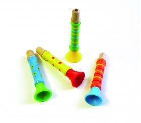 Trompette en bois et plastique pour animation