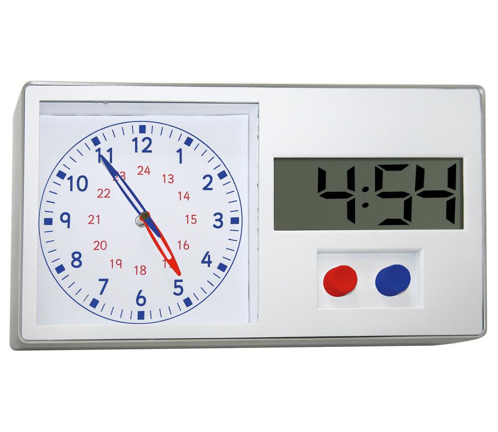 Horloge éducative : heure analogique et digitale