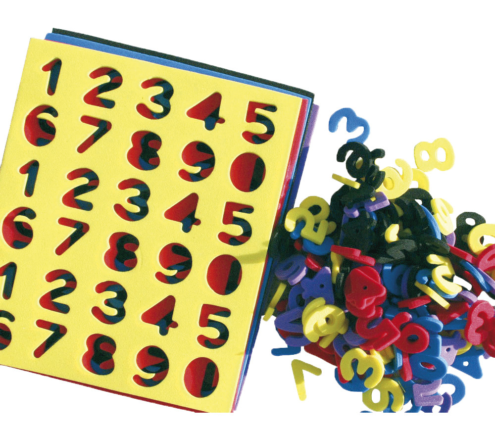 150 chiffres en mousse multicolores à détacher