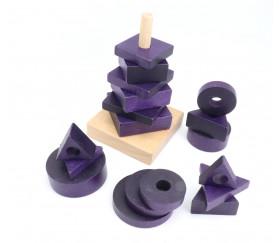 Abaque forme et épaisseur en bois 18 pièces