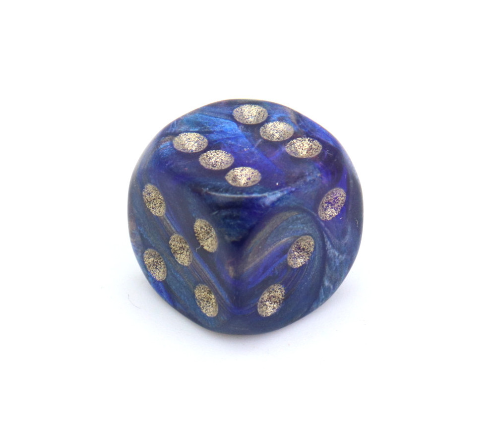 Mini Dé 12 mm magma bleu