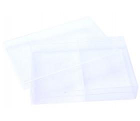 Boite plastique double pour 2 jeux 54 cartes à jouer transparentes vide