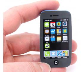 Mini smartphone - téléphone portable en gomme 6 x 3 cm
