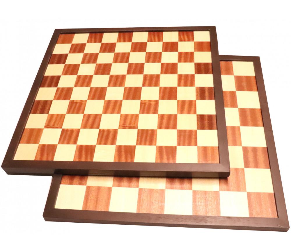 Echiquier / damier en bois marqueté plateau 42 cm