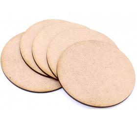5 Bases rondes de 10 cm en medium pour jeu