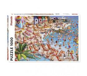 Puzzle 1000 pièces La Plage, Ruyer. Série comique Piatnik