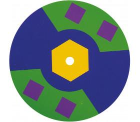 Grande toupie à assembler avec 10 disques couleur 15 cm