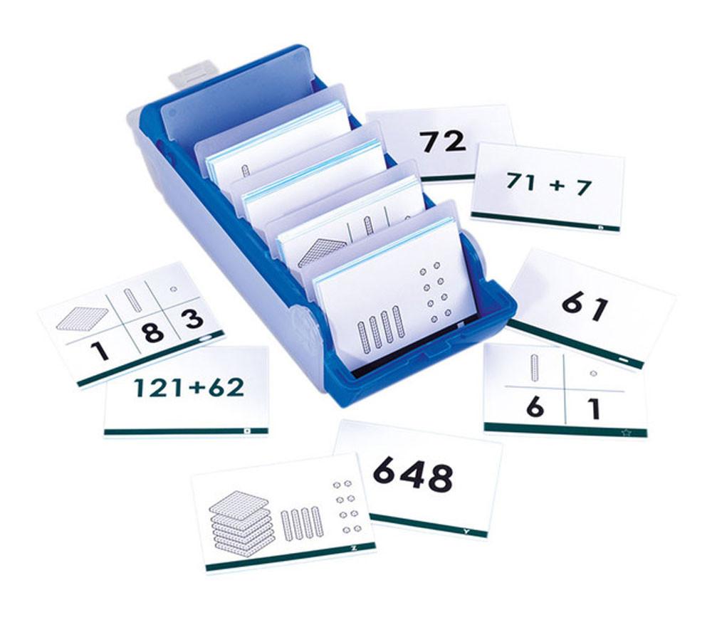 Boite 140 cartes Calcul base 10 - jusqu'à 1000