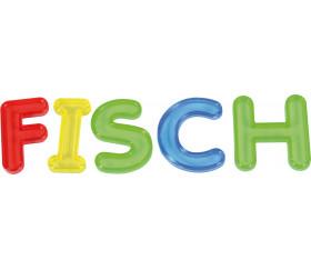 26 Lettres en plastique translucide coloré majuscule alphabet