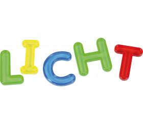 26 Lettres colorées en plastique translucide majuscule alphabet