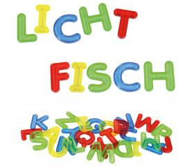 26 Lettres majuscules en plastique translucide coloré alphabet