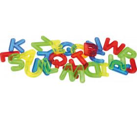 26 Lettres translucides colorées majuscule alphabet