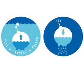 Nuage de pluie en plastique pour jeux d'eau
