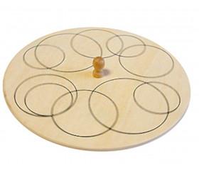 Toupie ronde en bois avec motif mandala ronds à personnaliser diamètre 13 cm