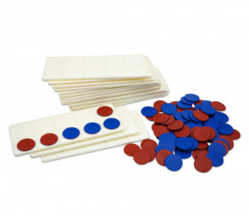 Kit 20 élèves mathématique: 20 Tables calcul 1 à 10 + 200 jetons bicolores
