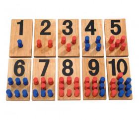 Panneaux bois numération calcul
