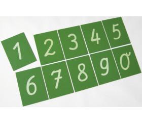 10 chiffres rugueux en relief de 0 à 9 - plaques bois