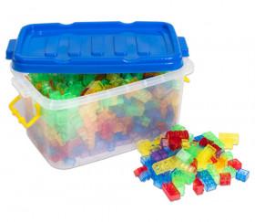 1000 briques de construction multicolores translucides