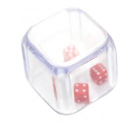 Dé à jouer triple avec 3 mini dés à l'intérieur