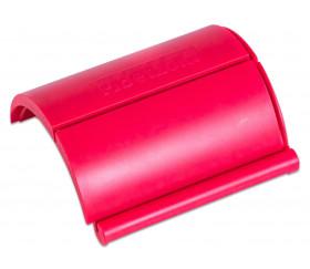 Porte carte modulable en plastique rouge à encastrer