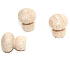 Petit Champignon bois naturel 24 x 19 mm