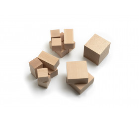 Cubes décomposition : 15 blocs + 4 puzzles bois naturel