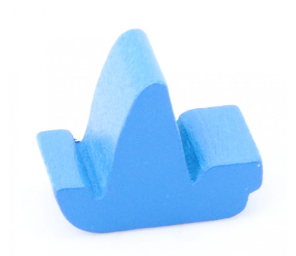 Pion bateau voilier bleu en bois 17 x 14 x 8 mm à l'unité