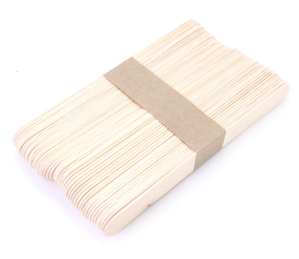 50 grands bâtonnets bois naturel 15 x 1.8 x 0.18 cm bricolage et jeux