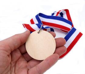 Médaille en bois neutre à personnaliser pour jeu ou cadeau