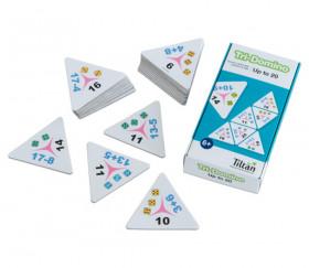 Tri-dominos de 1 à 20 addition soustraction chiffres et points.