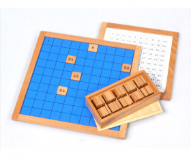 Montessori Table des 100 - plateau centaine