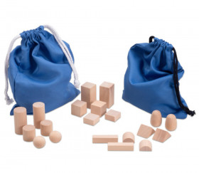 Sac Mystère Montessori 20 formes géométriques en bois