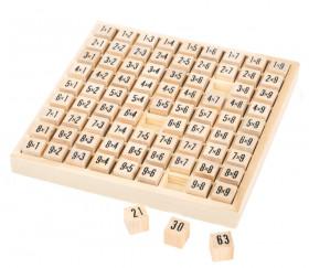 Multiplication - table de calcul bois naturel - mémorisation des tables