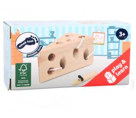 Jeu de laçage fromage et souris
