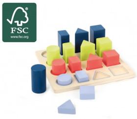 Puzzle éducatif : taille, formes et couleurs
