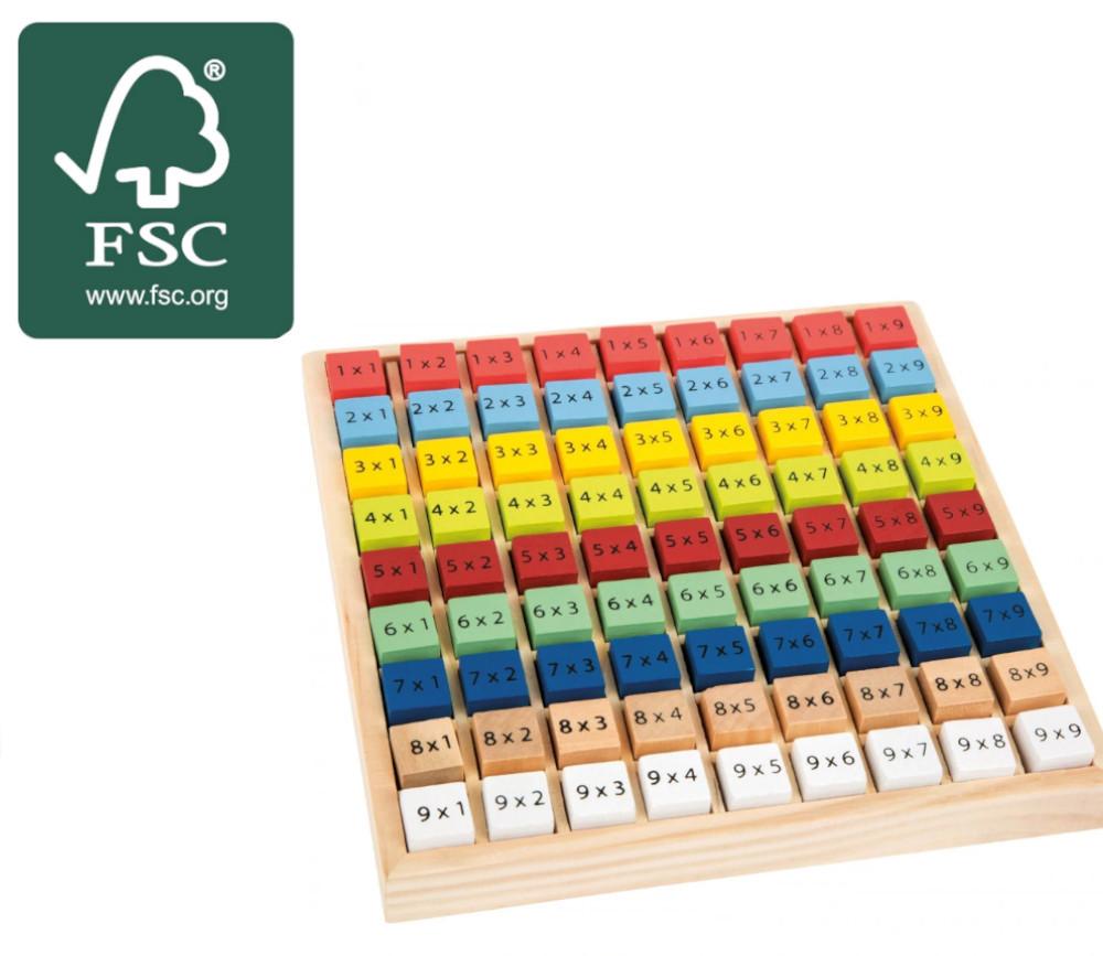apprentissage Multiplication - table de calcul bois certifié FSC