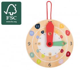 Horloge en bois éducation diamètre 18 cm certifié FSC