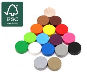 Pion rond 2.1 cm en bois certifié FSC pour jeu 21 x 7 mm à l'unité