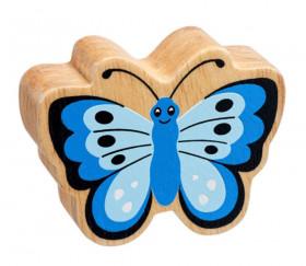 6 figurines insectes en bois colorés papillon